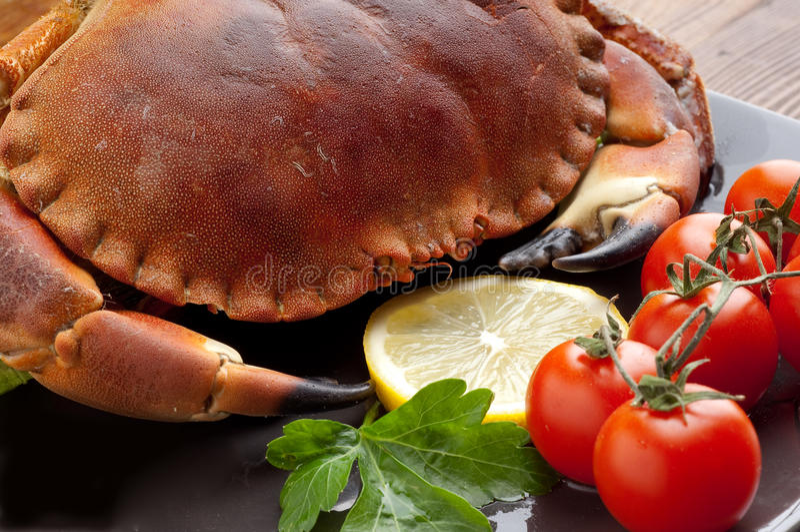 świezi krabów pomidory obraz stock