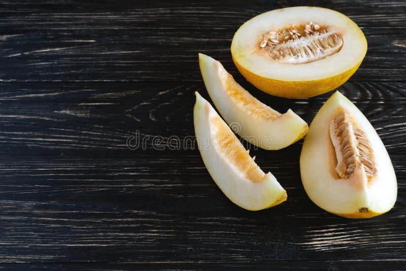 Świezi melony pokrajać zdjęcia royalty free