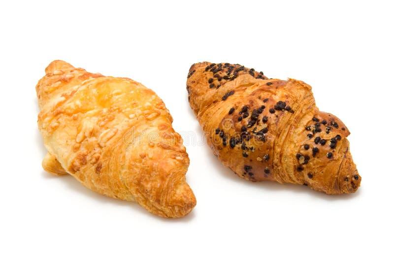 świezi piec croissants zdjęcia stock