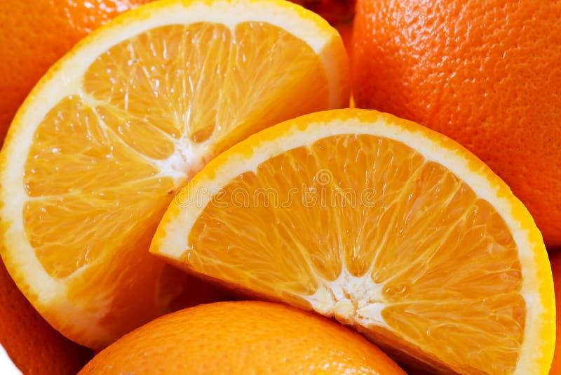 świezi pomarańczowi plasterki zdjęcie stock