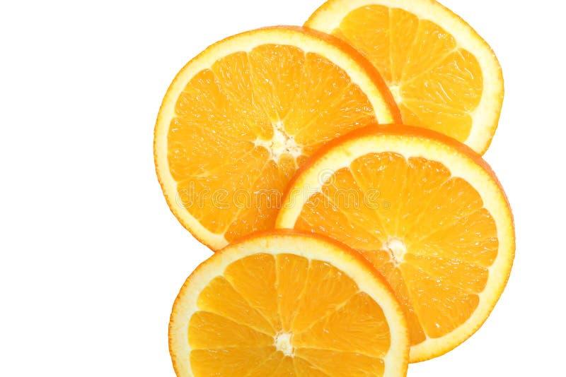świezi pomarańczowi plasterki fotografia royalty free
