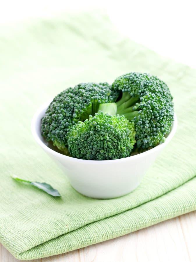 świezi pucharów brokuły fotografia stock