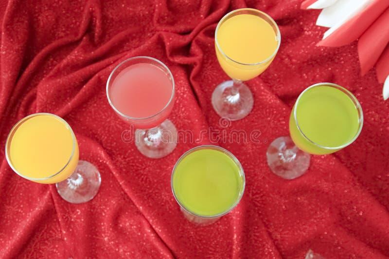 Świezi soków szkła fotografia stock