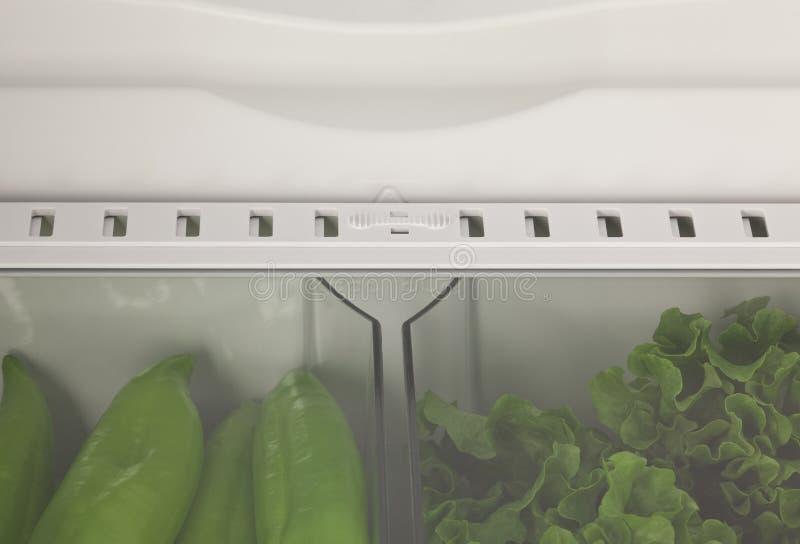 Świezi warzywa w fridge zdjęcia stock