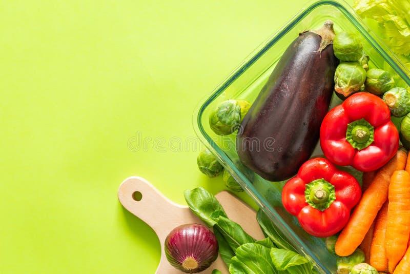 świezi zdrowi warzywa na tle, miejscu dla teksta zielonych/ zdjęcia stock