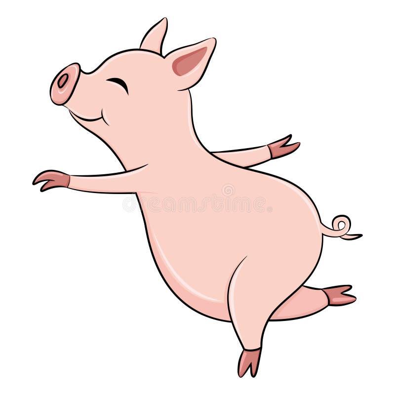 świni śliczne menchie ilustracja wektor