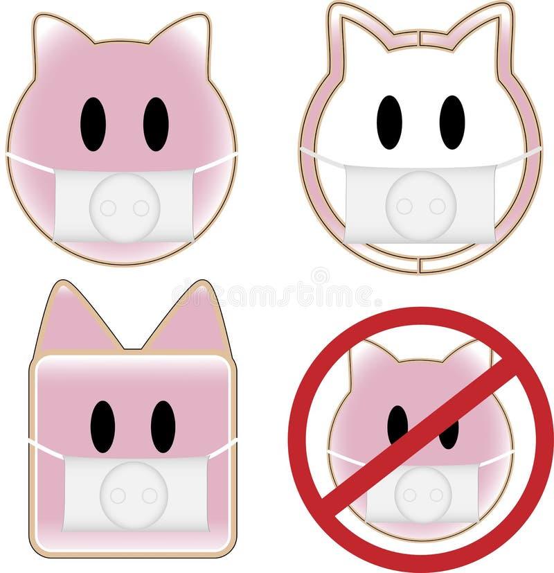 świni grypowe chlewnie royalty ilustracja
