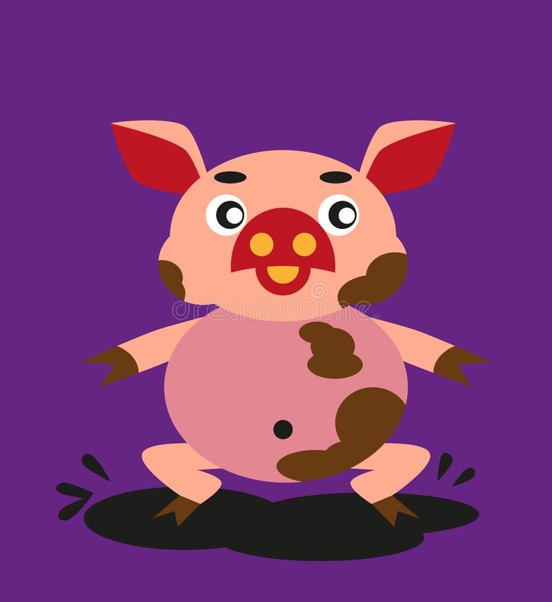 Świnia i brud ilustracji