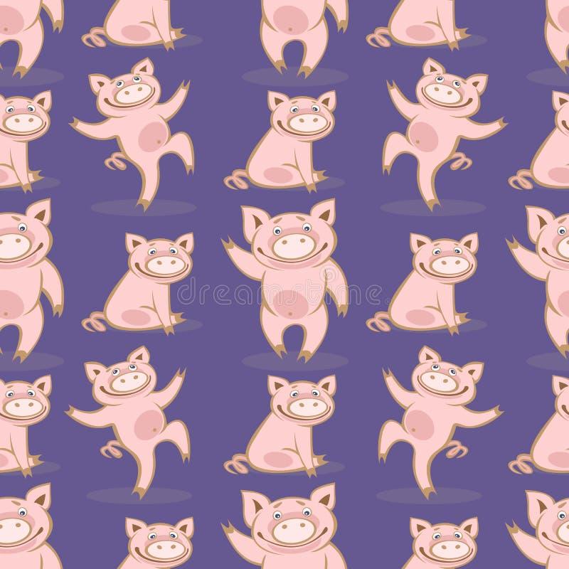 Świnia seamless-14 ilustracja wektor