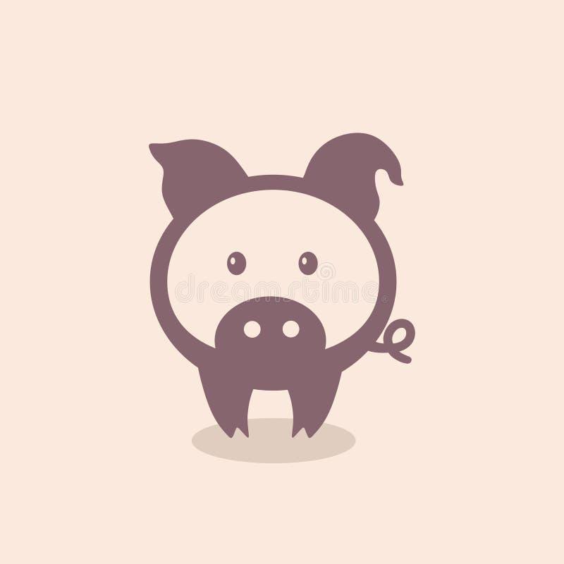 Świnia, symbol, ikona, logo royalty ilustracja