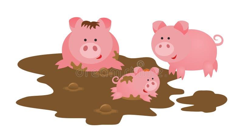 Świnie rodzinne ilustracja wektor