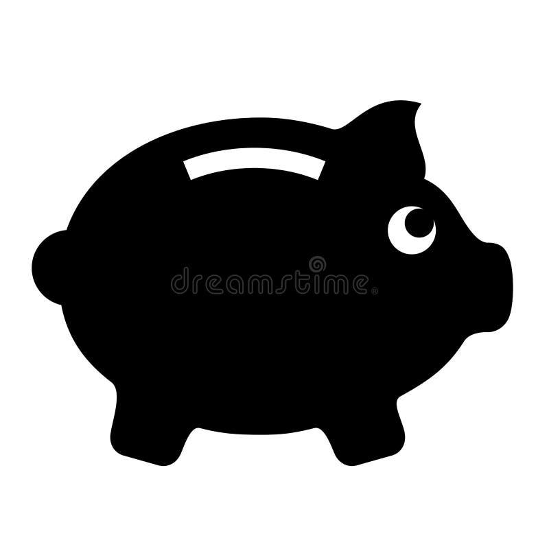 Świniowata pieniądze pudełka wektoru ikona ilustracji