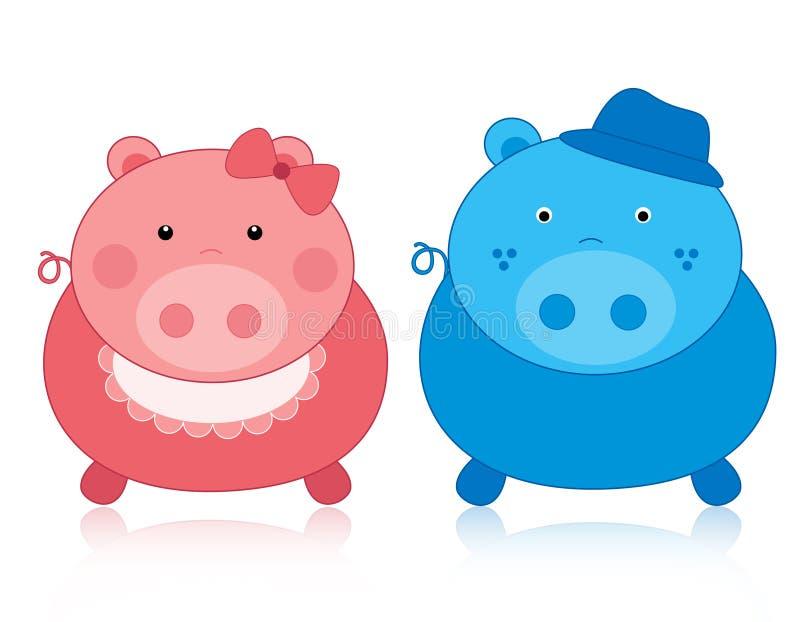 świniowate świnie royalty ilustracja