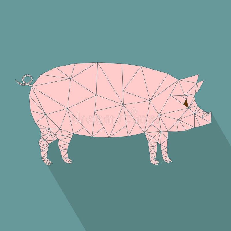 Świniowatego sadła projekta ikona ilustracja wektor