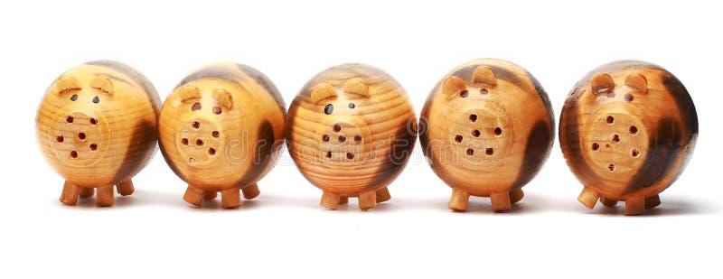 świniowaty drewno obraz royalty free