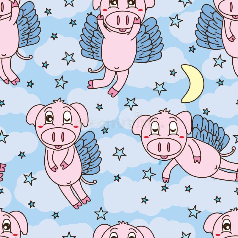 Download Świniowaty Komarnica Słodkiego Sen Bezszwowy Wzór Ilustracja Wektor - Ilustracja złożonej z farm, bezpłatny: 57654960