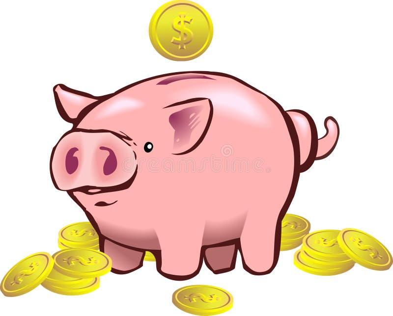 świnka banku ilustracja wektor