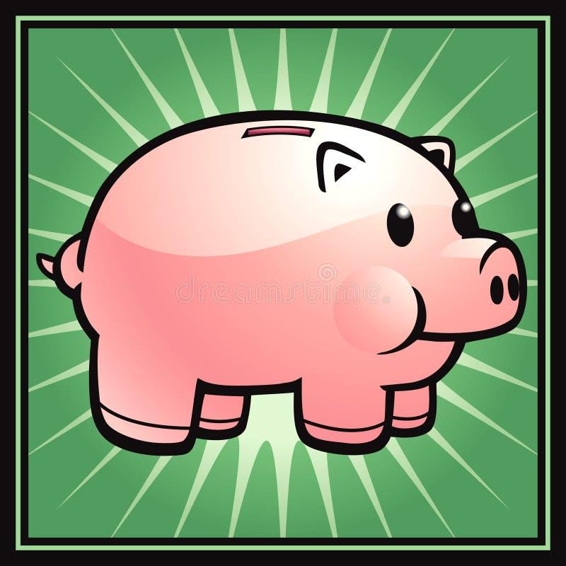 świnka banku ilustracji