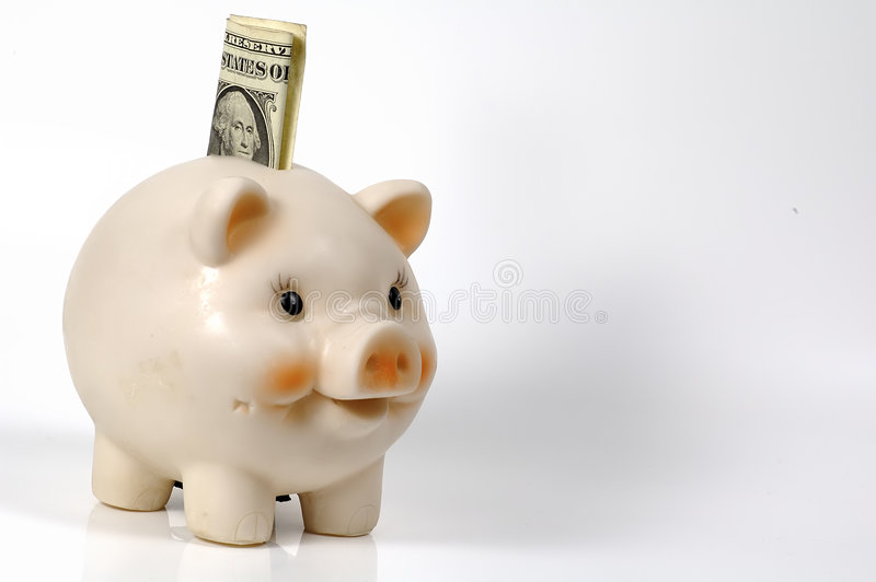 świnka banku obraz royalty free