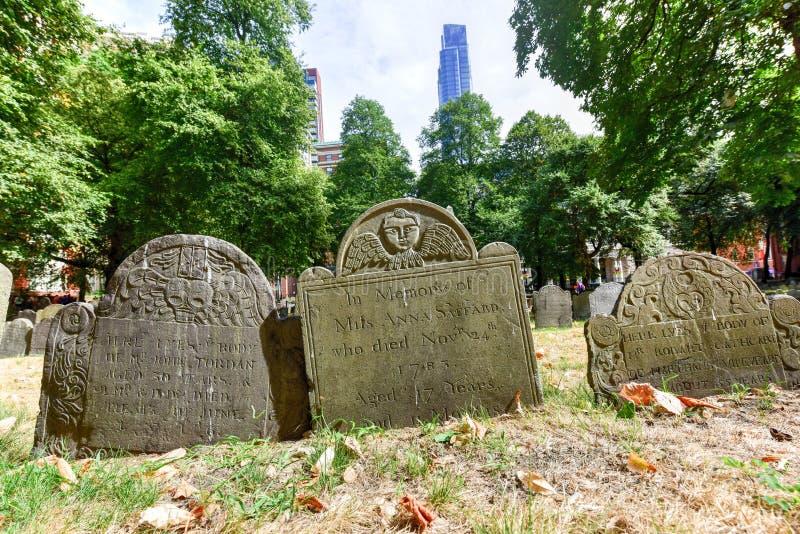 Świron Zakopuje ziemię - Boston, Massachusetts obraz stock