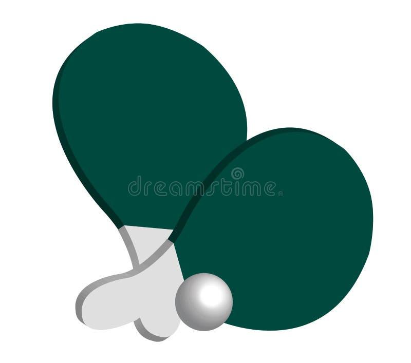 śwista pong royalty ilustracja