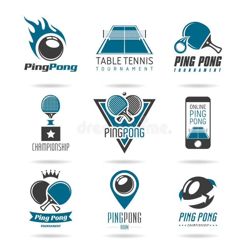 Śwista pong ikona ustawiająca - 3 ilustracja wektor