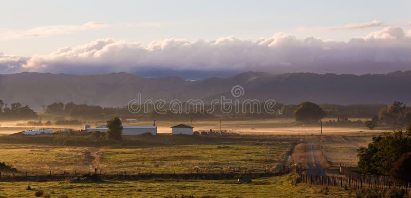 Świt Na gospodarstwie rolnym obrazy stock