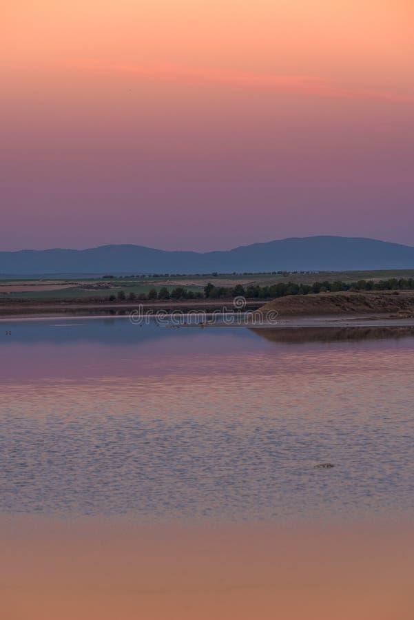 Świt na lagunie zdjęcie stock