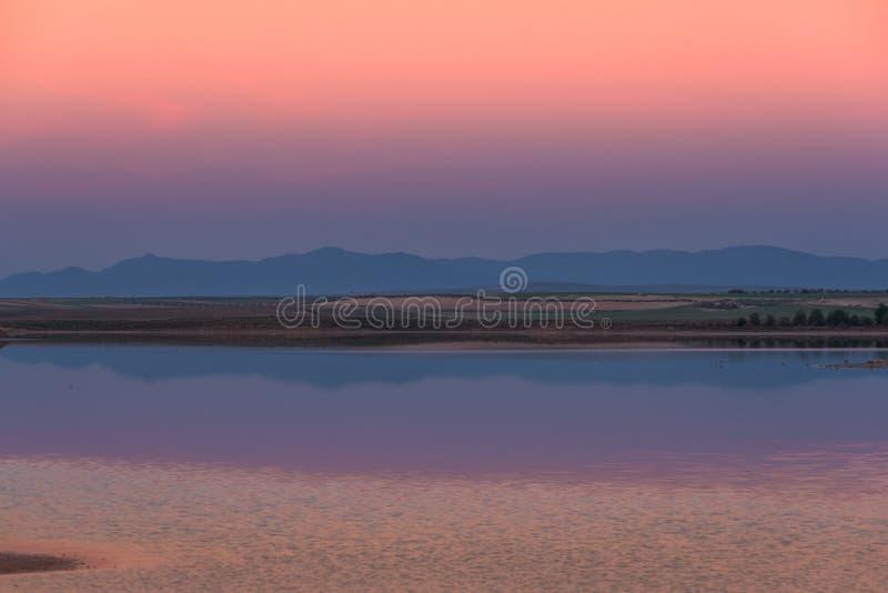 Świt na lagunie fotografia royalty free