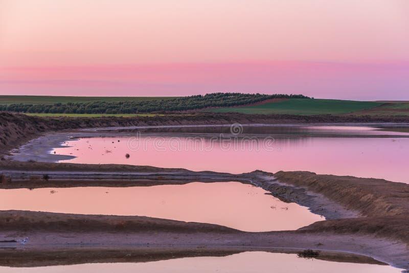 Świt na lagunie zdjęcia stock