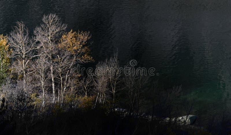 Świt od śladu nad jezioro Sabrina, sierra Nevada pasmo, Kalifornia zdjęcia royalty free