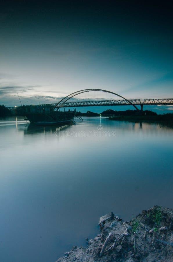 Świt rzeka zdjęcie royalty free