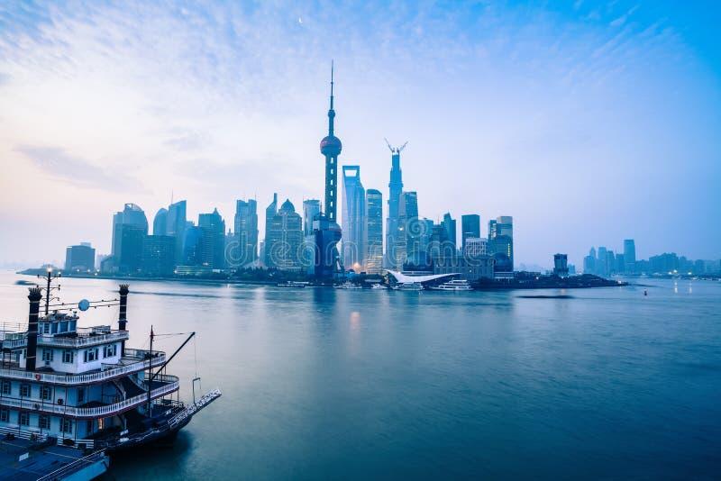 Świt Shanghai obraz stock