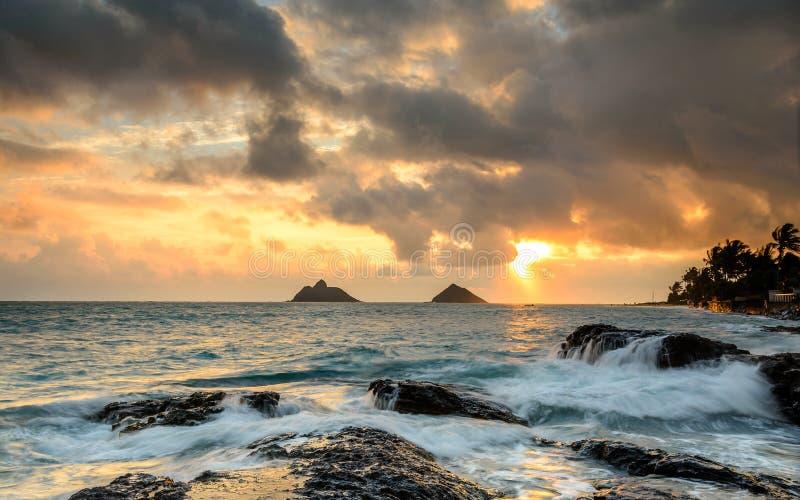 Świt w Kailua-Kona, Hawaje fotografia stock