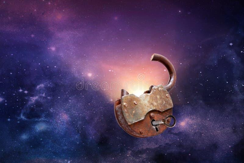 Świt w kosmosie Pojęcie zdjęcie royalty free