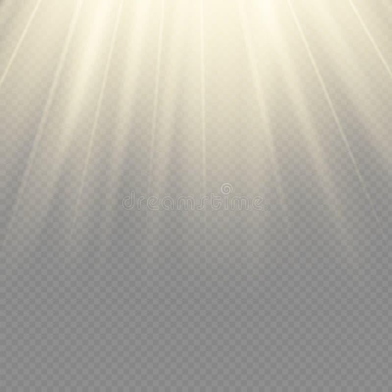 Źródła światła, koncertowy oświetlenie, światła reflektorów Koncertowy światło reflektorów z promieniem, iluminujący światła refl royalty ilustracja