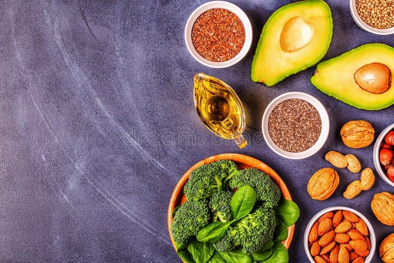 Źródła wegańskie omega 3 i tłuszcze nienasycone obrazy stock