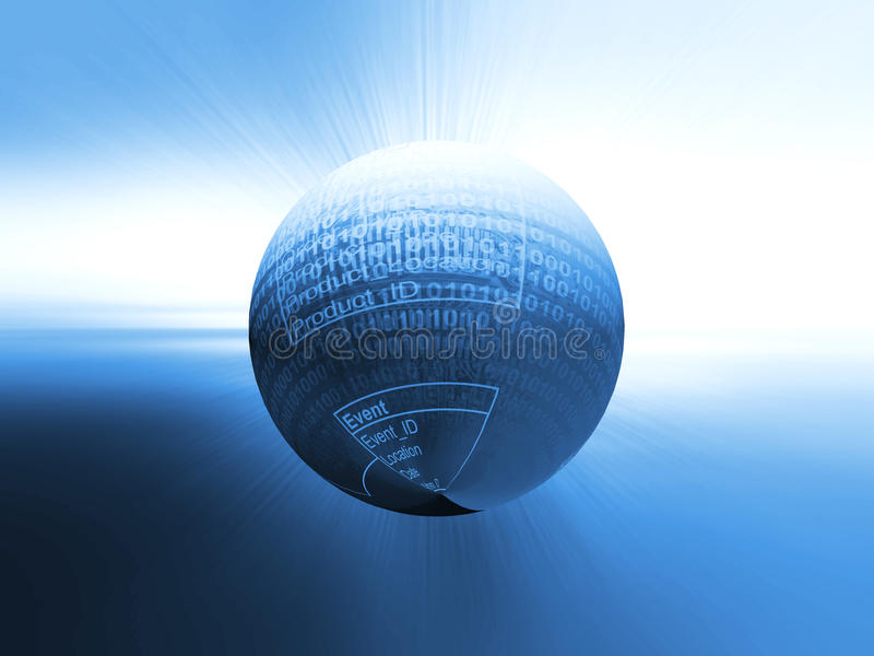 Źródło kodu technologii tło royalty ilustracja