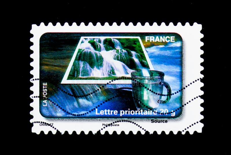 Źródło, Wodnej ochrony seria około 2010, fotografia royalty free