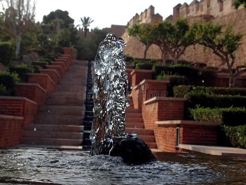Źródło wody w Alcazaba Almeria zdjęcie royalty free
