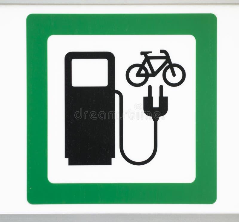 Źródło zasilania dla elektrycznych rowerów fotografia stock