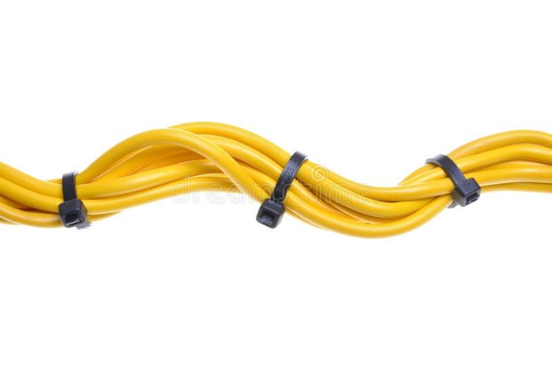Źródło zasilania kabel z kablowymi krawatami zdjęcia royalty free
