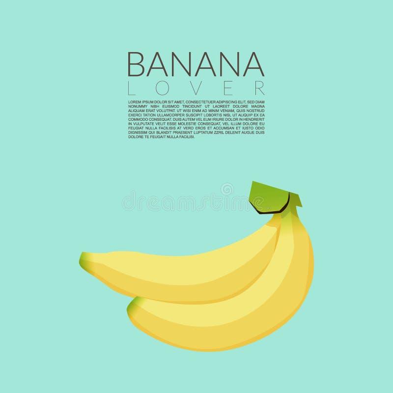 Żółci banany odizolowywający na błękitnym tle z kopii przestrzenią dla twój teksta również zwrócić corel ilustracji wektora ilustracji