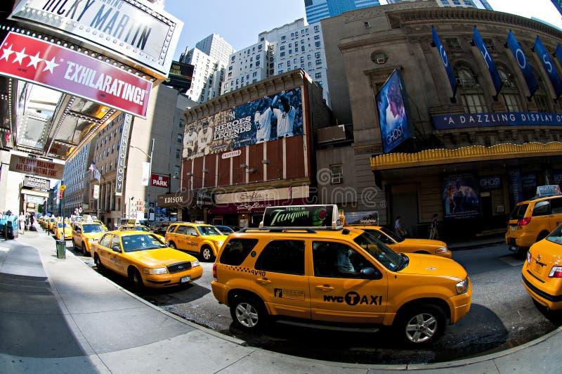 ŻÓŁCI Nyc taxi obrazy stock
