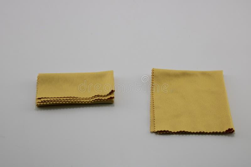 Żółci szkła czyści płótno Bia?y t?o obraz royalty free