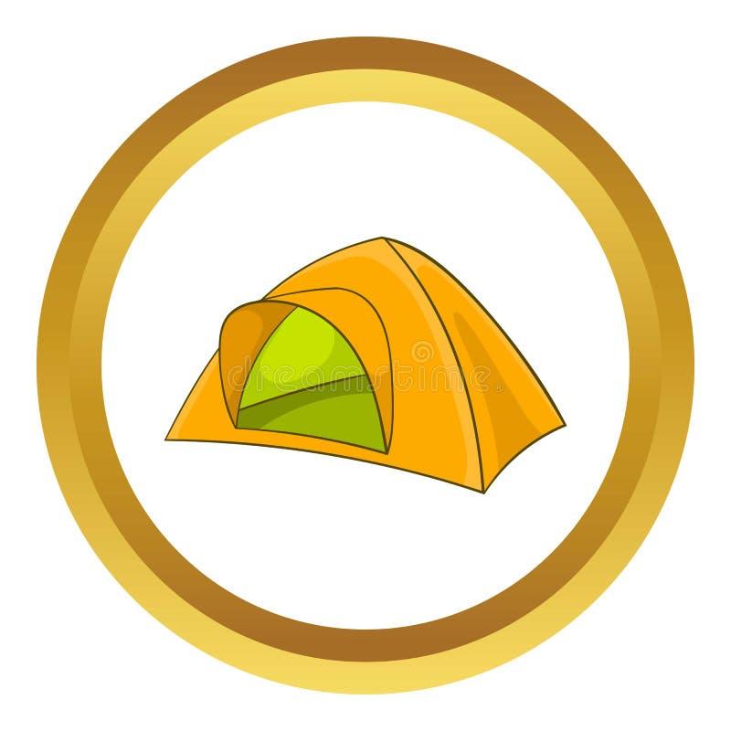 Żółta namiotowa ikona ilustracji