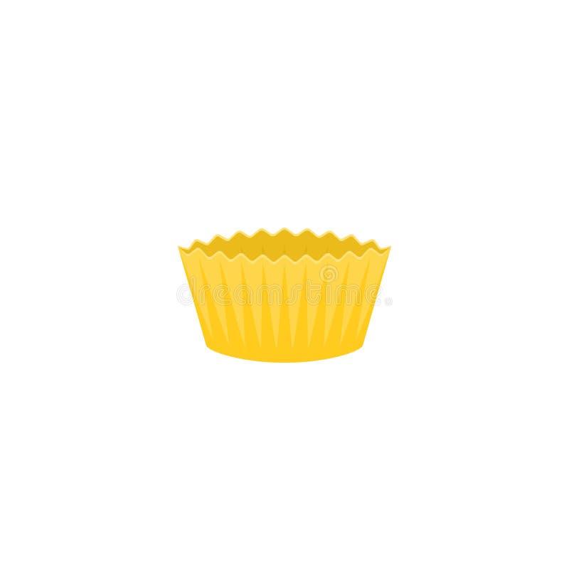 Żółta papierowa filiżanka dla piekarnia produktu royalty ilustracja