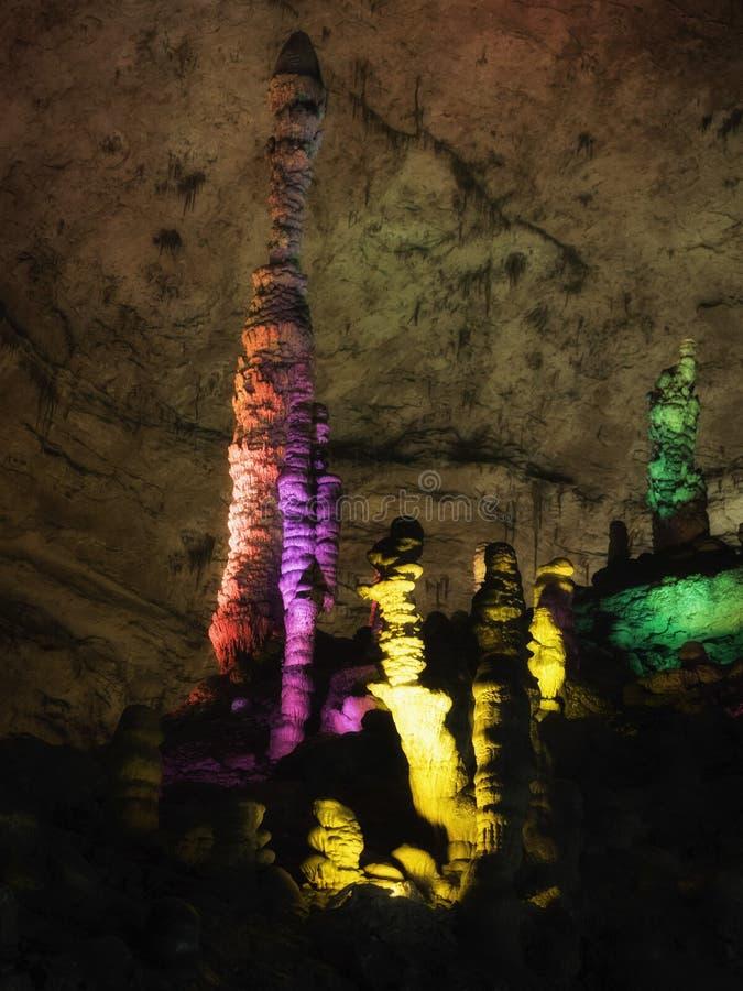 Żółta smok jama: Cud światowy ` s zawala się przy Zhangjiajie, prowincja hunan, Chiny zdjęcia stock