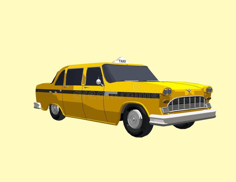 Żółta taksówka royalty ilustracja