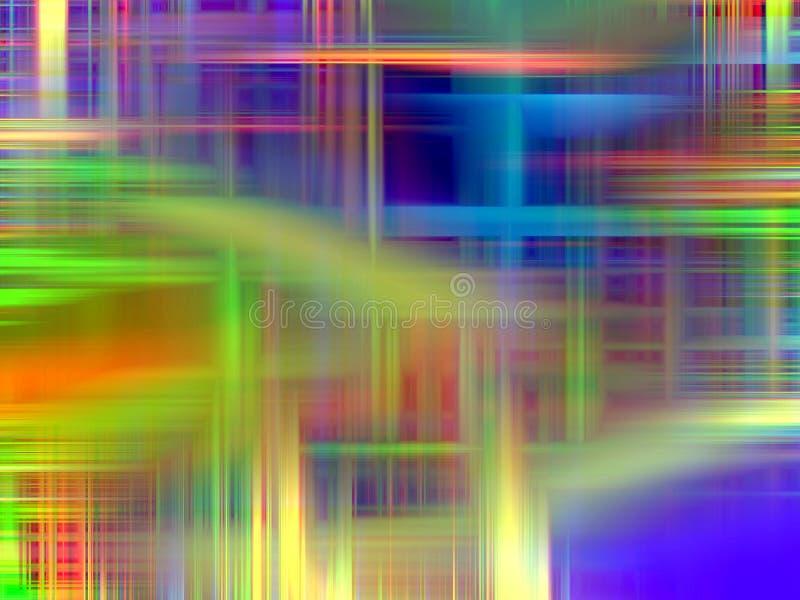 Żółte błękitnej zieleni pomarańczowe linie, geometrii tło, grafika, abstrakcjonistyczny tło i tekstura, ilustracja wektor